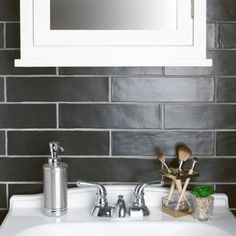 Pinch Black Wall Tiles, Wall And Floor Tiles, Black Walls, Stone Look Tile, Stone Tiles, Fireplace Tile Surround, Ceramic Wall Tiles, Ceramic Flooring, Tile Projects