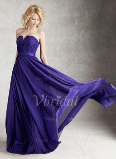 Bridesmaid Dresses - $118.07 - A-Line/Princess Strapless Sweetheart Floor-Length Chiffon Bridesmaid Dress With Ruffle (0075057462)