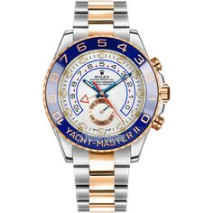Rolex Yacht-Master II 44mm 116681 White Watch ($21,377) ❤ liked on Polyvore featuring men's fashion, men's jewelry, men's watches, stainless steel mens watches, rolex mens watches and mens white watches