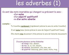 les adverbes 1