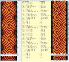 22 tarjetas, 4 colores, repite cada 24 movimientos // sed_524_c6_a diseñado en GTT༺❁