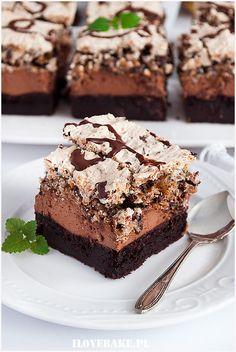 best=Czekoladowe ciasto prince polo I Love Bake Prom Dresses Long Sweets Cake, Cupcake Cakes, Cake Recipes, Dessert Recipes, Breakfast Menu, Cake Bars, Happy Foods, Polish Recipes, Food Cakes