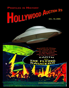 Hollywood Auction 23, 12-16-05  https://www.profilesinhistory.com/auctions/hollywood-auction-23/