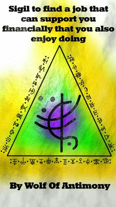 Sigil to find a job that can support you financially that you also enjoy doing Magick Spells, Wicca Witchcraft, Wiccan Art, Magic Symbols, Witch Symbols, Viking Symbols, Witch Spell, Practical Magic, Symbolic Tattoos