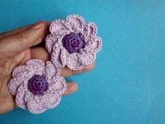 ▶ Вязаные цветы Урок 38 Crochet flower pattern for free - YouTube