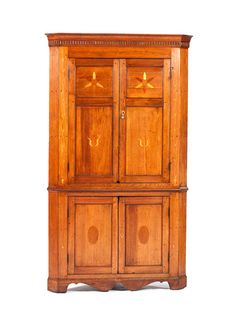Kentucky Inlaid Corner Cupboard (2/21/2015   Decorative Art: Live Salesroom