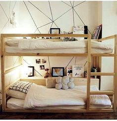 Ikea Kinderzimmer Bett Best Of 40 Cool Ikea Kura Bunk Bed Hacks Modern Bunk Beds, Cool Bunk Beds, Bunk Beds With Stairs, Kids Bunk Beds, Bunk Bed Decor, Boys Bunk Bed Room Ideas, Double Bunk Beds Ikea, Black Bunk Beds, Kura Ikea