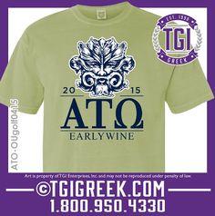 TGI Greek - Alpha Tau Omega - Golf Tournament - Comfort Colors - Greek T-shirts #tgigreek #alphatauomega
