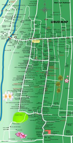 Ubud Map, Village, Bali, Map