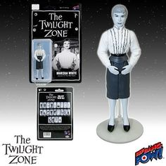 The Twilight Zone Marsha White 3 3/4-Inch Action Figure:   '...what kind of a place is this?' Retro-styled, 3 3/4-inch scale action figure celebrating The Twilight Zone episode 'The After Hours.' Features 5 points of articulation and includes a stand accessory. Bring Marsha White to life right before your eyes with our The Twilight Zone Marsha White 3 3/4-Inch Action Figure Series 4 from Bif Bang Pow!. Designed similar to the action figures released in the '70s, this retro-style black-...