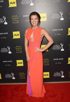 Melissa Claire Egan arrives at The 39th Annual Daytime Emmy Awards at The Beverly Hilton Hotel in Beverly Hills, Calif. on June 23, 2012.