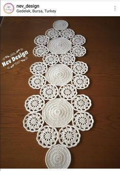Best 12 Study In Circles Crochet Motif Table Runner Pattern Crochet Circles, Crochet Round, Crochet Home, Crochet Motif, Crochet Doilies, Double Crochet, Hand Crochet, Crochet Table Runner, Embroidery