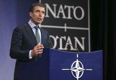 4月1日、NATOはブリュッセルで外相理事会を開き、ロシアとの軍事面を含む実務的な協力を停止することを決定した。写真はラスムセン事務総長(2014年 ロイター/Francois Lenoir) ▼2Apr2014Reuters|NATOがロシアとの実務協力の停止決定、大使級協力は継続 http://jp.reuters.com/article/worldNews/idJPTYEA3008H20140401 #Anders_Fogh_Rasmussen