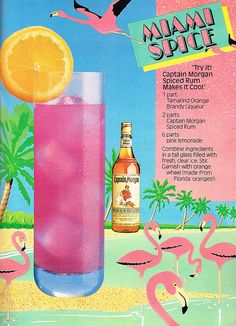 Miami Spice Cocktail - doesn't get more '80's than that!