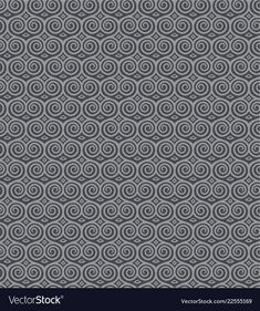 Seamless pattern with spirals vector image on VectorStock Spiral Shape, Japanese Patterns, Adobe Illustrator, Vector Free, Pdf, Shades, Ornaments, Gray, Illustration