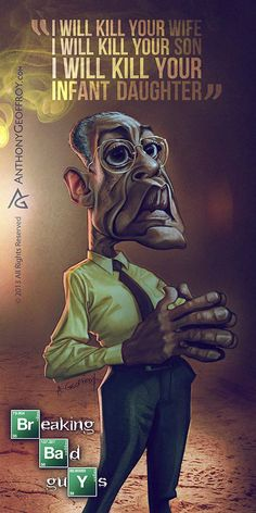 Caricatures Breaking Bad 3 Illustration : Caricatures Breaking Bad par Anthony Geoffroy