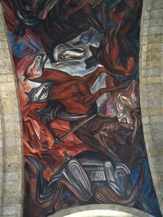 Why There Are No Statues of Cortés in Mexico. Mural by José Clemente Orozco, Hospicio Cabañas, Guadalajara.