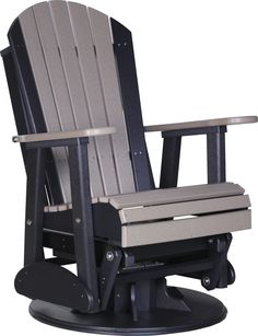 Exceptional LuxCraft Recycled Plastic 2u0027 Adirondack Swivel Glider Chair