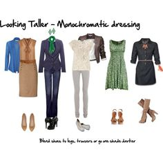 How to Look Taller - Monochromatic Dressing - Inside Out Style Petite Fashion Tips, Fashion Advice, Inside Out Style, Style Outfits, Look Fashion, Fashion Design, Long Torso, Petite Women, Premier Designs