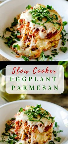 This Slow Cooker Eggplant Parmesan recipe is an easy to make recipe that will have you reaching for your crock pot on a regular basis! I've made it gluten free but you can easily use regular breadcrumbs if you like! Source by wendypolisi Healthy Crockpot Recipes, Slow Cooker Recipes, Vegetarian Recipes, Cooking Recipes, Vegetable Crockpot Recipes, Crockpot Ideas, Potato Recipes, Soup Recipes, Chicken Recipes