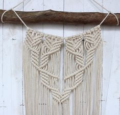 Wanddeko - Makramee Wandbehang - ein Designerstück von fibers_ bei DaWanda
