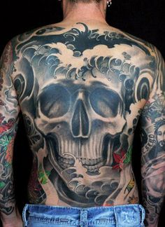 Tattoo Artist - Kore Flatmo | www.worldtattoogallery.com/back_tattoos