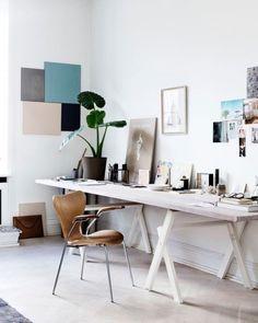 25 Scandinavian Home Office Design Ideas - Decoration Love Home Office Inspiration, Workspace Inspiration, Office Ideas, Office Inspo, Home Office Design, Home Office Decor, House Design, Office Designs, Office Style