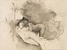 "EDGAR DEGAS ""TWO WOMEN"" 1876,  Monotype"