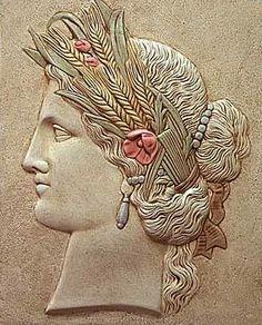 Demeter, Greek goddess of harvest & agriculture (Roman-Ceres)