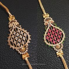 Thaali mugappu Gold Temple Jewellery, Gold Jewelry, Ruby Necklace Designs, Best Jewellery Design, Indian Jewelry Earrings, Gold Chain Design, Gold Chain With Pendant, Gold Necklace Simple, Jewerly