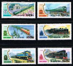 Locomotives Stamps - Trains - North Korea #2872 - 2877 Stamps - AS KRN 2872 to 2877-1 MNH