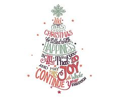Adesivo da parete in vinile Merry Christmas Happiness