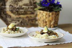 Risotto de cogumelos assados e salsa