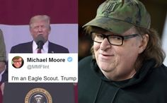 The famous filmmaker heard Trump's appalling speech and immediately took to Twitter.