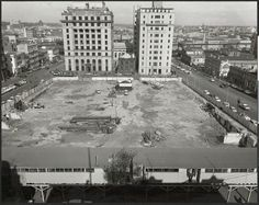 1960: Demolition of Western Market, Melbourne.  Wolfgang Sievers photographer, SLV collection.