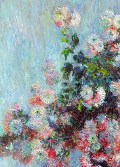Chrysanthemums (deatil) Claude Monet.