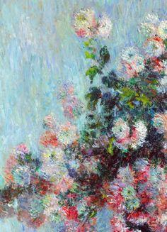 Chrysanthèmes (détail), Claude Monet.