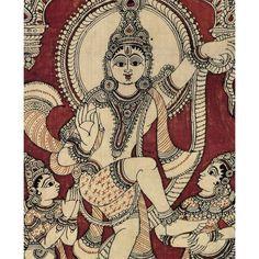 Kalamkari Painting 'Victorious Krishna'