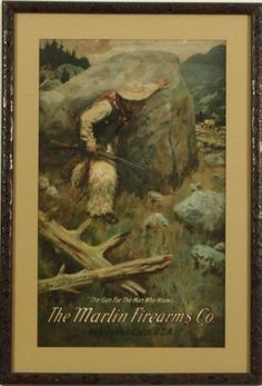 The Marlin Firearms Co. Advertising Poster