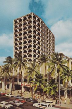 The Bank of Hawaii building on Kalakaua Ave in Waikiki.  I remember eating breakfast at the Woolworth's diner downstairs on street corner.