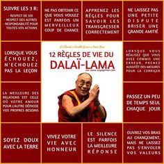 Life Quotes : 12 règles de vie du dalai lama - The Love Quotes Positive Mind, Positive Attitude, Positive Quotes, Strong Quotes, Attitude Quotes, Mantra, Merlin, Osho, Burn Out