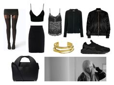 Noomi Rapace by slow-death on Polyvore featuring Tomas Maier, Dark Pink, Givenchy, Raoul, NIKE, The Row, Elizabeth and James and Boohoo