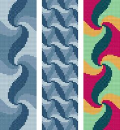 Bookmark 8. 3 abstract bookmarks. Free cross stitch pattern