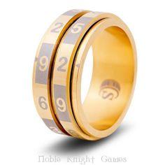 CritSuccess d100 Dice Ring Dice Ring - Gold, Size 9 (d100) MINT #CritSuccess