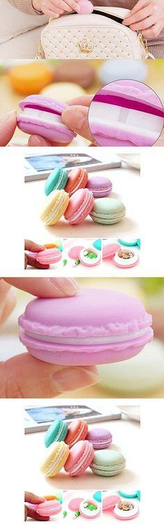 Drhob 6 pcs cute mini Macaron storage box portable candy organizer pill case jewelry box zakka container