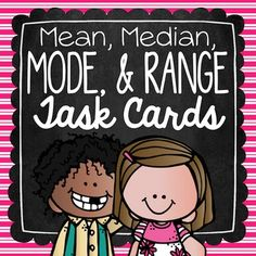 Mean, Median, Mode, and Range Task Cards Math Card Games, Math Task Cards, 4th Grade Math, Fifth Grade, Elementary Math, Upper Elementary, Mean Median And Mode, Exit Tickets, Math Journals