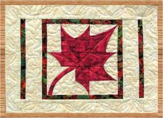 Dancing Maples Table Runner and Placemats PDF Quilt Pattern. $10.00, via Etsy.