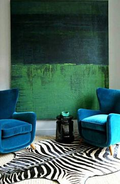 Color Clash : Emerald and Teal - Emily Henderson