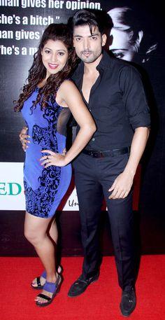 Gurmeet Chaudhary and wife Debina Bonnerjee at an awards event. #Bollywood #Fashion #Style #Beauty