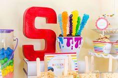 Rainbow Art Party   CatchMyParty.com